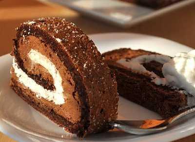 Rolat od čokolade i kesten pirea
