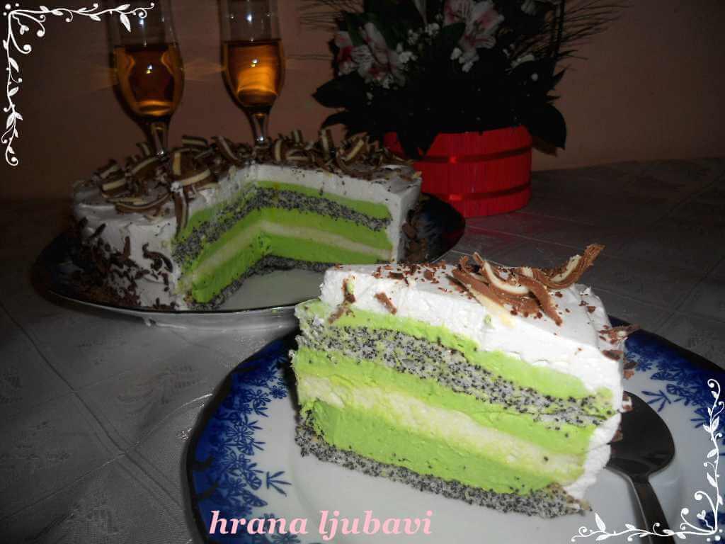 Mak menta torta