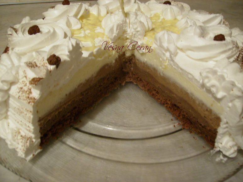 torta od tri vrste cokolade