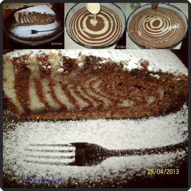 posna zebra torta
