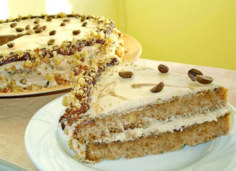 torta sa orasima i kafom