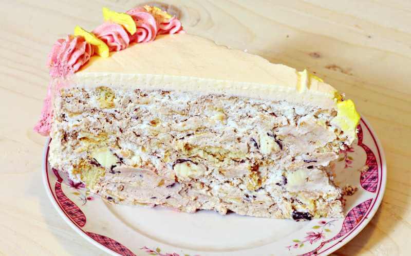 torta sa bananicama i plazma keksom