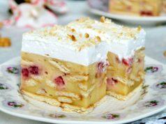 brzi kolac sa malinama ili jagodama