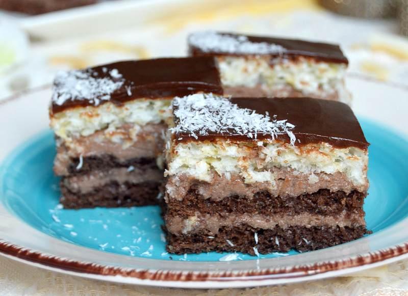 kolac od kokosa i cokolade
