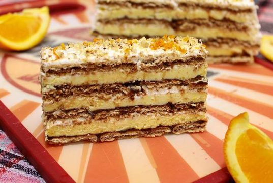nepecena torta od narandze i turskog keksa